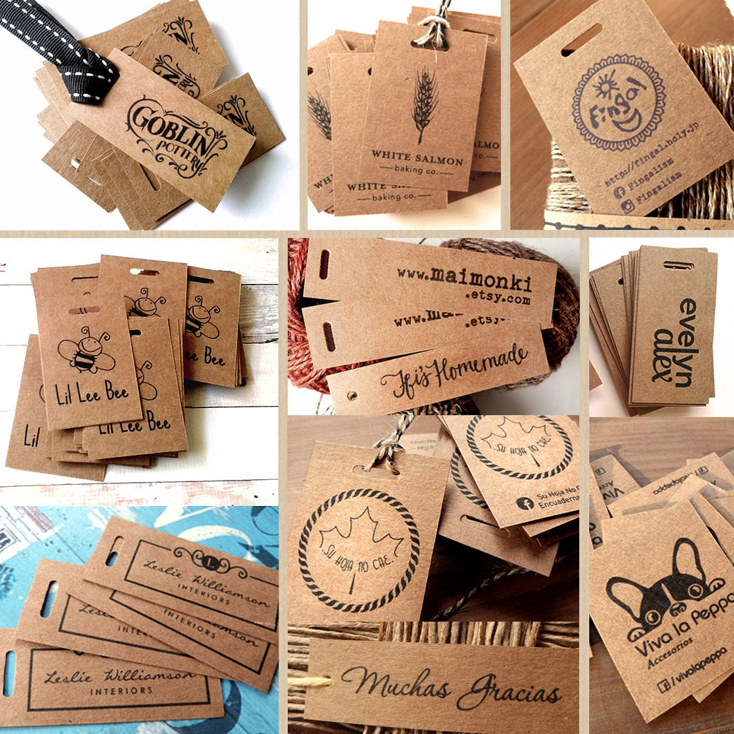 100 kraft paper tags custom hang tag wedding favors tags