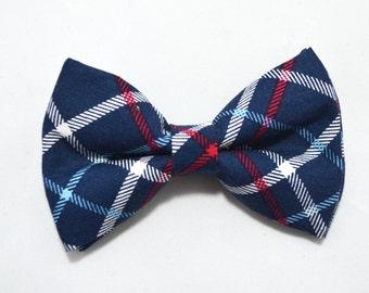 Navy Plaid bow tie boy bow tie, baby bow tie, adult bow tie, men's bow tie, Navy bow tie