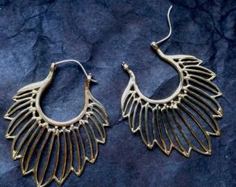 brass earrings (hook in silver)