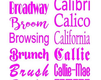 """Customized lettering Name or Monogram Initials on Vinyl or DIY Iron on or Stencil  - can make up to 23"""" wide!!"""