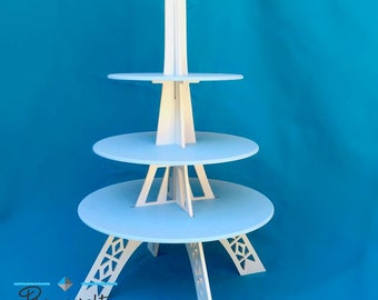 Cupcake stand made of wood Eiffel tower shape