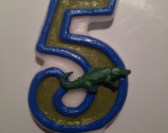 Alligator Birthday Candle