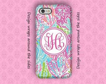 iPhone 7 Case, iPhone 7 Plus Case, iPhone 6S Case, iPhone 6 Plus Case, Monogram iPhone Case, 6S Plus Case, Lilly Pulitzer Inspired