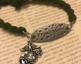Proud usmc mom boot band bracelet/anklet