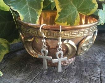 Ankh Earrings - Egyptian Earrings - Egyptian Jewelry - Ankh Jewelry