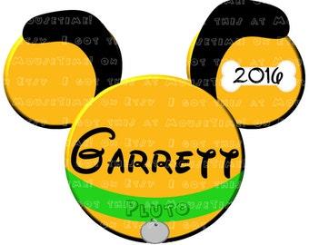 IRON-ON Pluto Ears! - Mouse Ears Tshirt Transfer