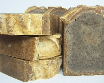 Coffee grounds gardening soap