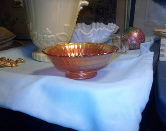 2 Vintage Carnival Glass Bowls, Marigold (Price for both), WAS 25.00 - 40% = 15.00
