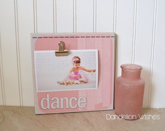 Gift For Dancer, DANCE Picture Frame, Dance Recital Gift, Custom Photo Frame, Birthday Gift For Girls, Girls Bedroom Ideas and Decor