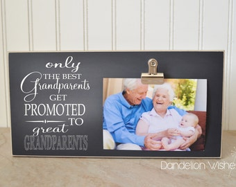 6x12 Size Frame : Only The Best Grandparents Get Promoted to Great Grandparents, Grandparent Promotion, Pregnancy Reveal, Grandparents Day