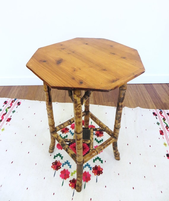 Bamboo Plant On Table: SOLD Bamboo Table Plant Stand Burnt Or Tortoise Bamboo