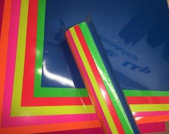 Siser Heat Transfer Vinyl, Fluorescent HTV Bundle, Fluorescent Green HTV Vinyl Bundle, Neon Heat Transfer Vinyl for Cricut, Anteupgraphics