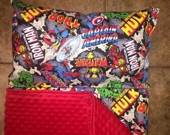 Personalized Preschool Kinder Nap Mat In Marvel Retro Fabric
