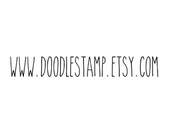 "WEB ADDRESS STAMP, personalised stamp, etsy shop stamp, packaging stamp, label stamp, promotion stamp, marketing stamp, 3""x0.4"" (cts109)"