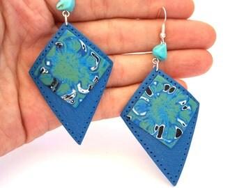 Polymer Clay Earrings, Abstract Earrings