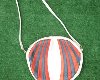 Red White And Blue Cross-body Purse 70s