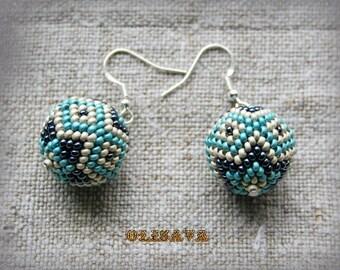 Seed Bead Earrings - beaded earrings, peyote earrings