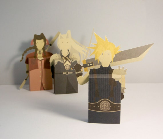 Final Fantasy Fridge Magnet Emotibox Paper Box Greeting