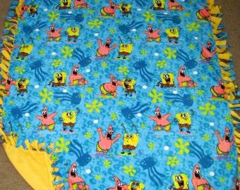 Spongebob Squarepants Fleece Tie Blanket