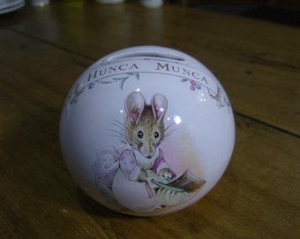 Royal Albert Beatrix Potter Hunca Munca Money Box