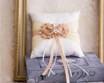 Rose Gold Ring Bearer Pillow, Blush Wedding Ring Pillow, Wedding Ring Bearer Pillow, Rose Gold Wedding Pillow