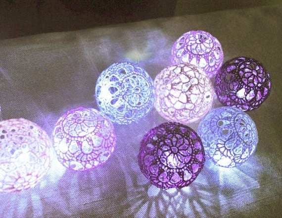 String Lights Fairy Lights Bedroom Decor Lamps 20 Purple