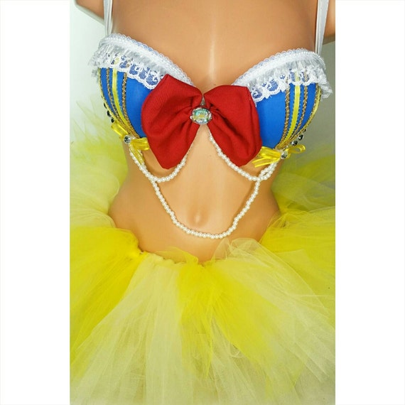 Inspired snow white rave OUTFIT bra and tutu by LaEDMbras on Etsy