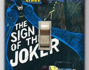 Batman Light Switch Cover Plate - DC Comics Detective Comics 476 Joker FREE SHIPPING