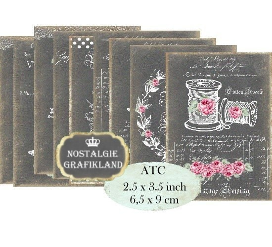 Chalkboard sewing spool cotton haute couture sew labels for Haute couture labels