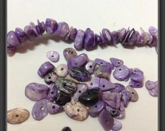 Charoite beads- chips 87x