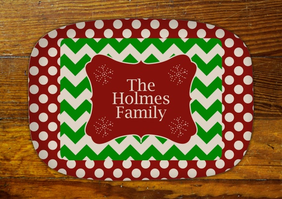 Personalized Serving Platter-Christmas Family