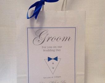 Groom wedding gift bag