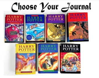 Harry Potter Journal ~ Choose Your Recycled Blank Book ~ Philosopher's Stone Order Phoenix Deathly Hallows Half Blood Prince Goblet of Fire
