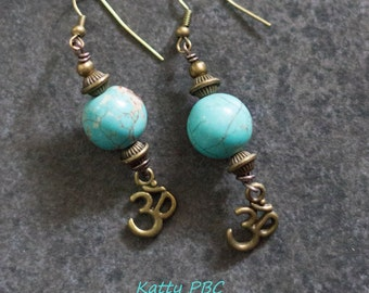 "Earrings Zen ""Madhur"" - Beads and bronze"
