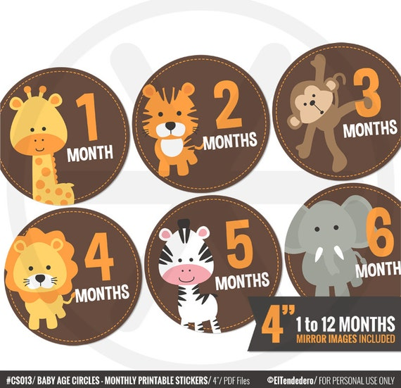 Gratifying image within baby month stickers printable