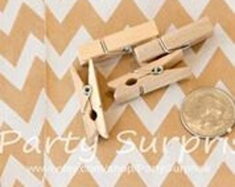 Mini wooden clothespins, craft clothespins, favor bag clothespins, garland clothespins, tiny clothespins, baby shower clothespins,