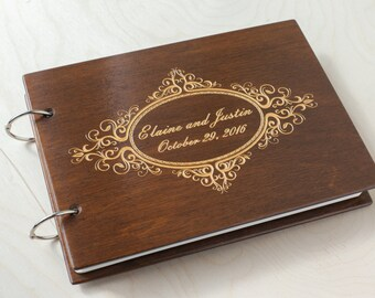 Guest Book, Custom Guest Book, Wedding Guestbook, Wooden Guest Book, Rustic Guest Book, Guest Book Ideas, Wedding Album, Guestbook