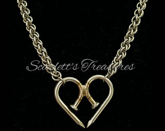 Unbreakable Heart Nailmaille necklace.