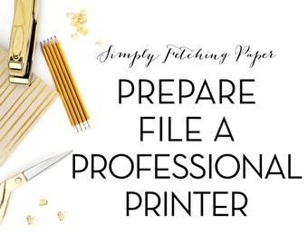 Prepare File for a Professional Printer