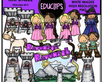 Rapunzel Clip Art Bundle