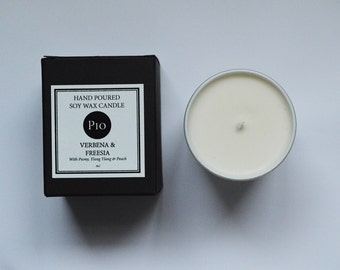 Soy Candle - 20cl - Verbena & Freesia- Gift Boxed
