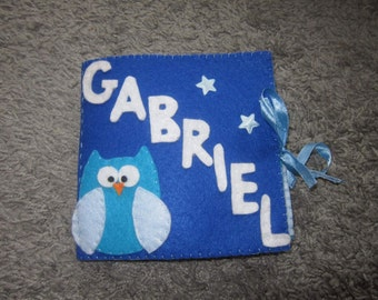 Baby's first book / Quiet book / Personalized felt childrens book with name / fabric baby book / baby shower gift