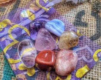 Set Cristalli Riequilibrio Chakra - Cristalloterapia - Cristalli naturali - Quarzi e pietre - Chakra Balance