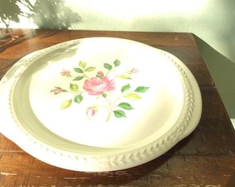 Vintage Universal Cambridge Laurella Rose Serving Plate, 11 inch cake plate, Housewarming Gift, Hen Party Platter Gift, 2roads2take