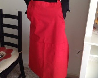 Red Full Adjustable Apron