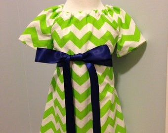 Lime Green Chevron Dress