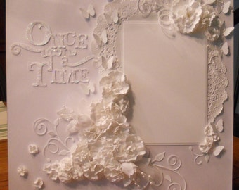 Premade Wedding scrapbook page 12x12
