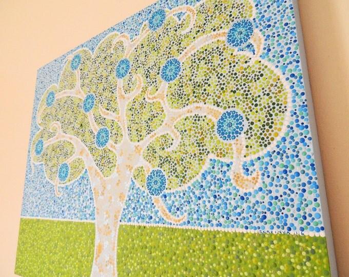 Wall Art Design Etsy Coupon Code : Off coupon on mandala canvas wall art painting tree