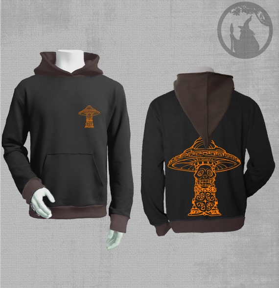 Mens Hoodie With Vinyl Print Mexican By Psydruid On Etsy