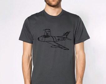 KillerBeeMoto: North American F-86 Sabre Jet Aircraft Short And Long Sleeve Shirt Cartoon Version